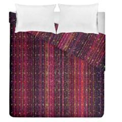 Colorful And Glowing Pixelated Pixel Pattern Duvet Cover Double Side (queen Size) by Amaryn4rt