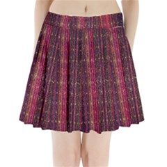 Colorful And Glowing Pixelated Pixel Pattern Pleated Mini Skirt by Amaryn4rt