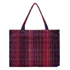 Colorful And Glowing Pixelated Pixel Pattern Medium Tote Bag by Amaryn4rt