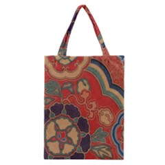 Vintage Chinese Brocade Classic Tote Bag by Amaryn4rt