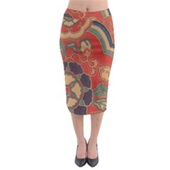 Vintage Chinese Brocade Midi Pencil Skirt by Amaryn4rt