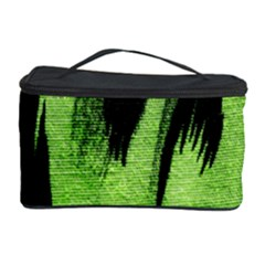 Green Tiger Background Fabric Animal Motifs Cosmetic Storage Case by Amaryn4rt