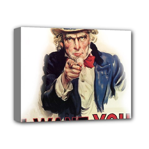Uncle Sam Deluxe Canvas 14  X 11  by Valentinaart