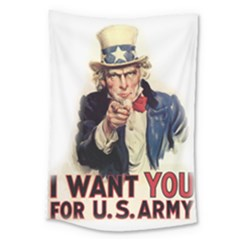 Uncle Sam Large Tapestry by Valentinaart