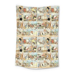 Old Comic Strip Small Tapestry by Valentinaart