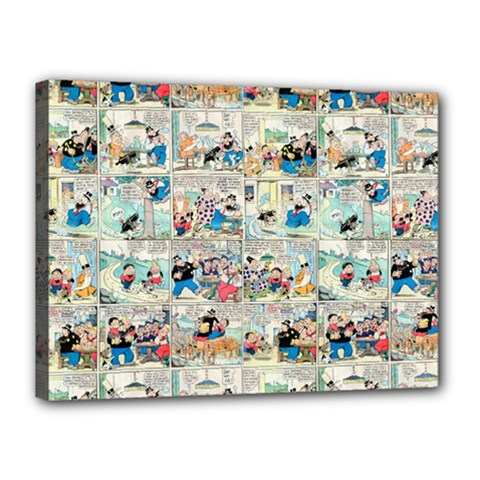 Old Comic Strip Canvas 16  X 12  by Valentinaart