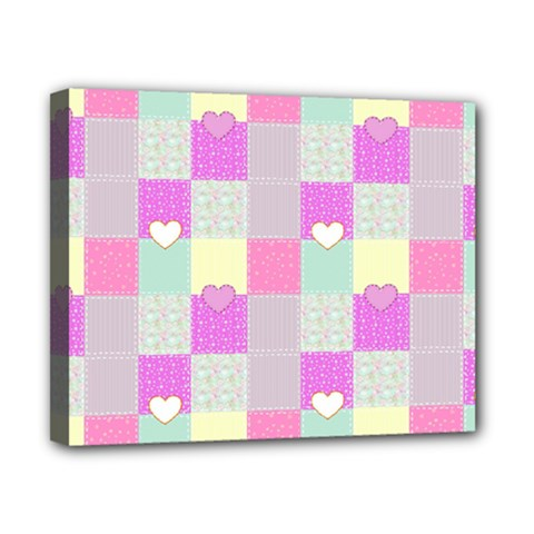 Old Quilt Canvas 10  X 8  by Valentinaart