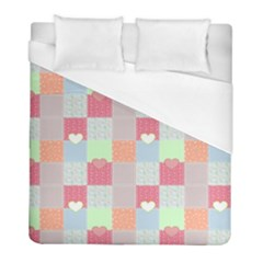 Patchwork Duvet Cover (Full/ Double Size) by Valentinaart