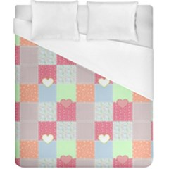 Patchwork Duvet Cover (california King Size) by Valentinaart
