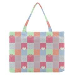 Patchwork Medium Zipper Tote Bag by Valentinaart