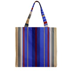Colorful Stripes Background Zipper Grocery Tote Bag by Amaryn4rt