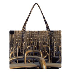 Fractal Image Of Copper Pipes Medium Tote Bag by Amaryn4rt