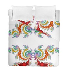 Fractal Kaleidoscope Of A Dragon Head Duvet Cover Double Side (full/ Double Size) by Amaryn4rt