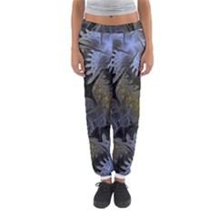 Fractal Wallpaper With Blue Flowers Women s Jogger Sweatpants