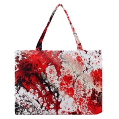 Red Fractal Art Medium Zipper Tote Bag by Amaryn4rt