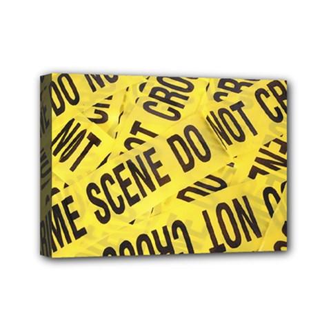Crime Scene Mini Canvas 7  X 5  by Valentinaart