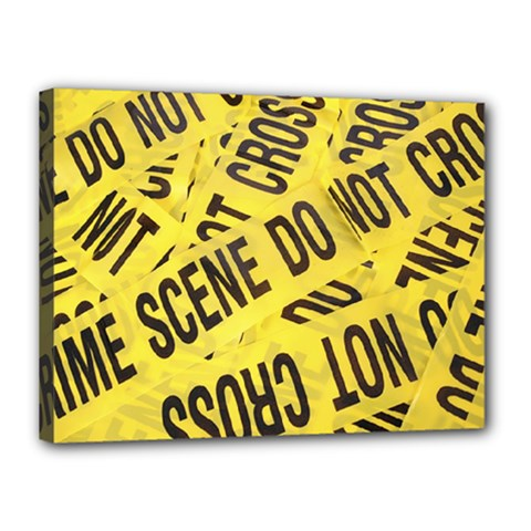 Crime Scene Canvas 16  X 12  by Valentinaart
