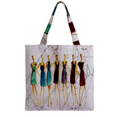 Fashion Sketch  Grocery Tote Bag by Valentinaart