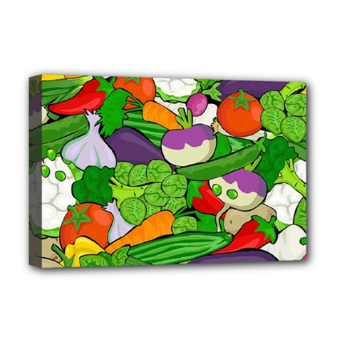 Vegetables  Deluxe Canvas 18  X 12   by Valentinaart