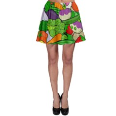 Vegetables  Skater Skirt by Valentinaart