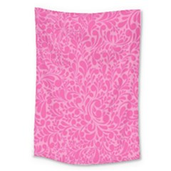 Pink Pattern Large Tapestry by Valentinaart