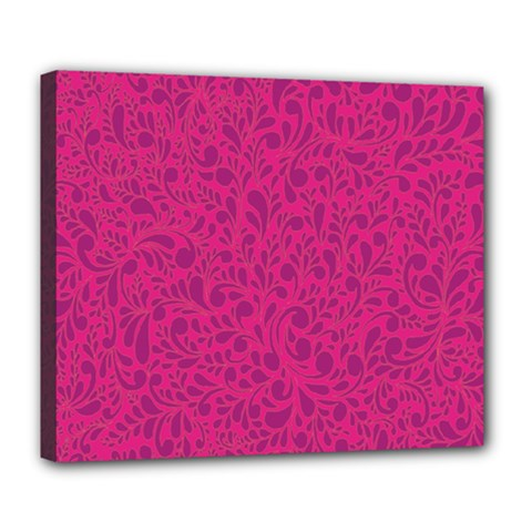 Pink Pattern Deluxe Canvas 24  X 20   by Valentinaart