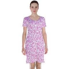 Pink Pattern Short Sleeve Nightdress by Valentinaart