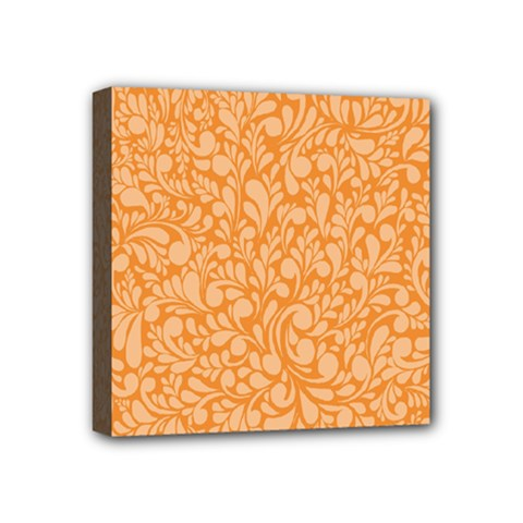 Orange Pattern Mini Canvas 4  X 4  by Valentinaart