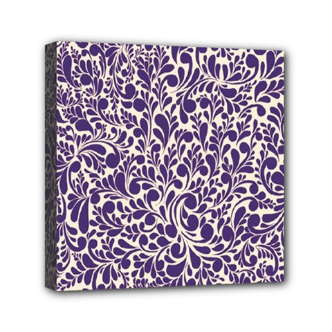 Purple Pattern Mini Canvas 6  X 6  by Valentinaart