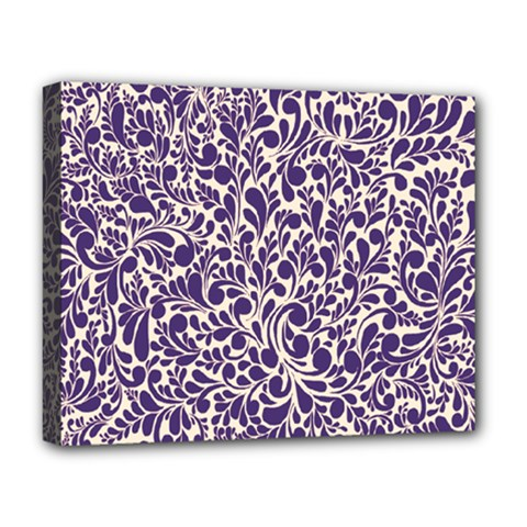 Purple Pattern Deluxe Canvas 20  X 16   by Valentinaart