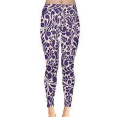 Purple Pattern Leggings  by Valentinaart