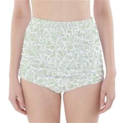 Pattern High Waisted Bikini Bottoms by Valentinaart