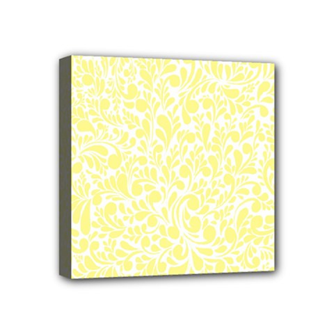 Yellow Pattern Mini Canvas 4  X 4  by Valentinaart