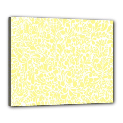 Yellow Pattern Canvas 20  X 16  by Valentinaart