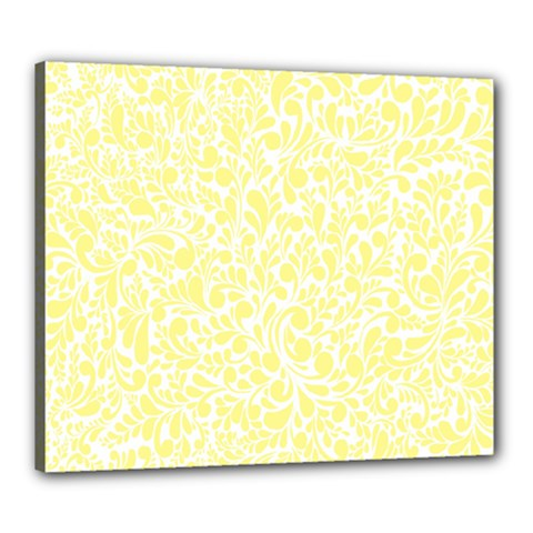 Yellow Pattern Canvas 24  X 20  by Valentinaart