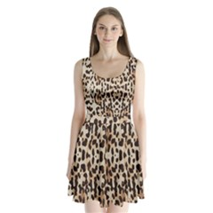Leopard pattern Split Back Mini Dress