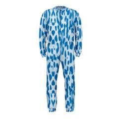 Blue Leopard Pattern Onepiece Jumpsuit (kids) by Valentinaart
