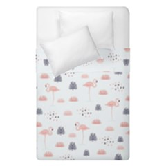 Cute Flamingos And  Leaves Pattern Duvet Cover Double Side (Single Size) by TastefulDesigns