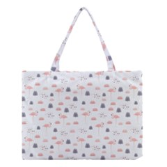 Cute Flamingos And  Leaves Pattern Medium Tote Bag by TastefulDesigns