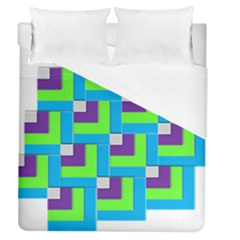 Geometric 3d Mosaic Bold Vibrant Duvet Cover (queen Size) by Amaryn4rt
