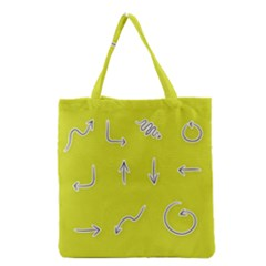 Arrow Line Sign Circle Flat Curve Grocery Tote Bag by Amaryn4rt