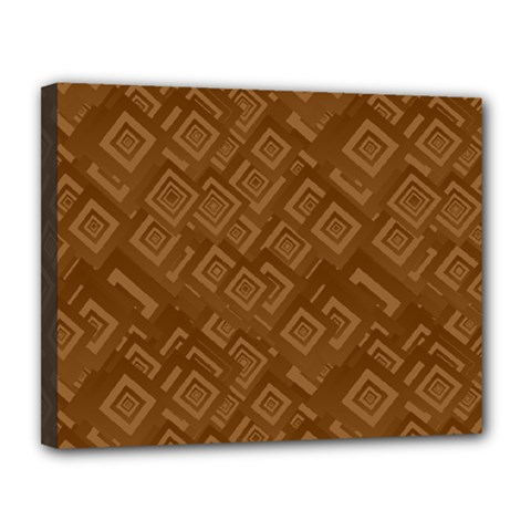 Brown Pattern Rectangle Wallpaper Canvas 14  X 11  by Amaryn4rt