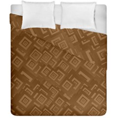 Brown Pattern Rectangle Wallpaper Duvet Cover Double Side (california King Size)