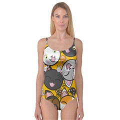 Cats Pattern Camisole Leotard  by Valentinaart