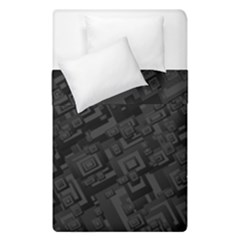 Black Rectangle Wallpaper Grey Duvet Cover Double Side (single Size) by Amaryn4rt