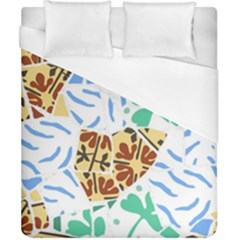 Broken Tile Texture Background Duvet Cover (california King Size) by Amaryn4rt