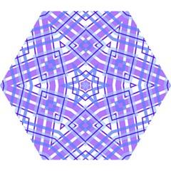 Geometric Plaid Pale Purple Blue Mini Folding Umbrellas by Amaryn4rt