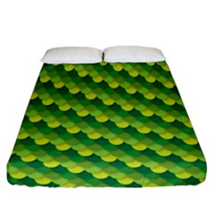 Dragon Scale Scales Pattern Fitted Sheet (california King Size) by Amaryn4rt
