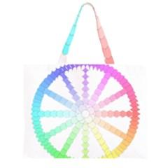 Polygon Evolution Wheel Geometry Zipper Large Tote Bag by Amaryn4rt