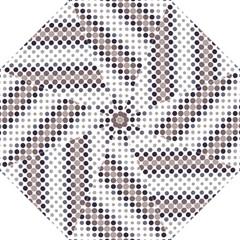 Circle Blue Grey Line Waves Black Folding Umbrellas by Alisyart